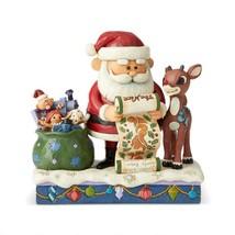 "Rudolph & Santa Look over Santa's List - Jim Shore Christmas Figurine 6.5"" High image 1"