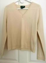 """Ralph Lauren ~V Neck Short Ivory Color Knit Sweater """"RL"""" Logo 100% cotto... - $17.81"""