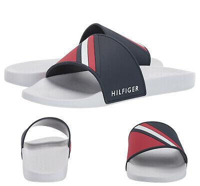 Men's Tommy Hilfiger Designer Striped Slippers Ella Casual Slide Sandals