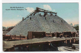 Oyster Shell Mountain Packing Plant Hampton VA postcard - $6.93