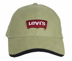 NEW NWT LEVI'S RED TAB MEN'S CLASSIC COTTON ADJUSTABLE BASEBALL HAT CAP TAUPE image 2