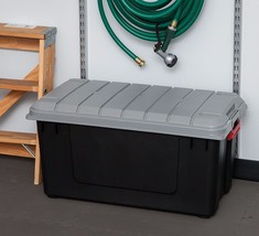 Storage Tote Bin Boxes Camping Truck Lock Latch Container 4 Pack Rugged ... - $195.00