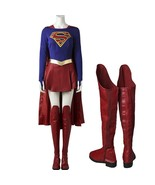 Supergirl Costume Carnival Supergirl Cosplay Party Costume With Boots - £117.30 GBP