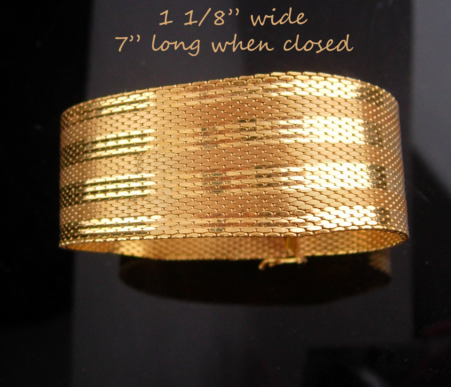 AWESOME Gold bracelet / Signed Amerikana A D / Gold filled Mesh / Andreas Daub/