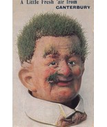 Funny Face Man in Canterbury Kent Grass Growing On Face Antique Comic Postcard - €10,99 EUR