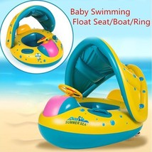 Kids Swimming Ring Inflatable Swim Float Baby Seat Water Pool Boat Summe... - $31.18