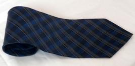 Van Heusen Blue Diagonal Tartan/Plaid Necktie - $7.99