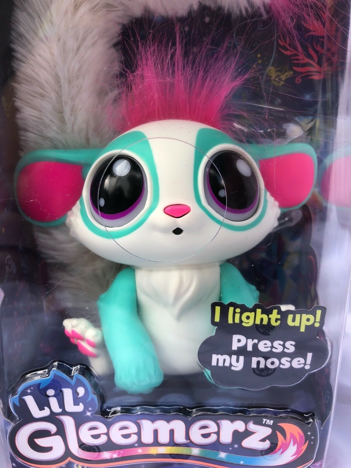 NEW Mattel Lil' Gleemerz Doll Amiglow Green Interactive New In Package-In Hand