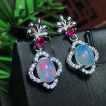 Fine Earrings White Opal Stud Earrings for Women, 925 Sterling Silver - $56.88