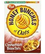 Post Honey Bunches Of Oats with Cinnamon Clusters Cereal 14.5 oz (MARCH ... - $8.90