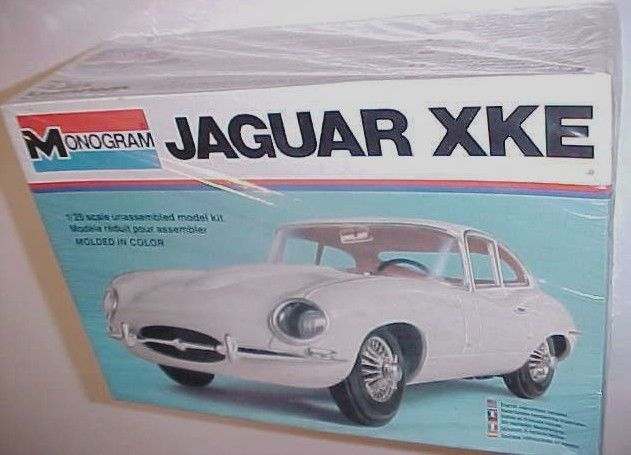 Primary image for Monogram Jaguar XKE Scale 1/25 Plastic Model Car Kit No. 2243 New NIB