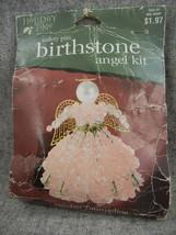 Holiday Time- Darice  October Tourmaline Birthstone Angel kit  Safety pi... - $6.50