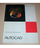AutoCAD Render Reference Manual Development System Release 12 1992 - $10.99