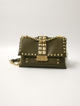 Michael Kors Cece Studded Leather Chain Shoulder Bag Oliver Auth - $350.00