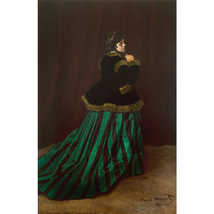 Camille Or The Woman In The Green Dress - Claude Monet Paint By Numbers - $28.59