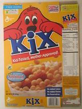 Empty Cereal Box KIX 2001 GENERAL MILLS 9 oz CLIFFORD THE BIG RED DOG [G... - $15.34