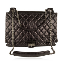 Authentic Chanel Black Quilted Leather Large Reissue 2.55 Accordion Flap... - $3,069.00