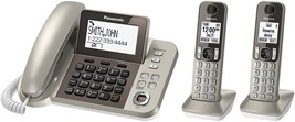 Phone Landline Corded, Panasonic 2-handset Combo Office Desk Corded Phon... - $143.99