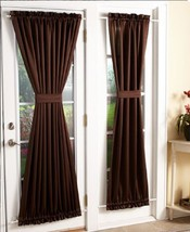 Room Darkening Sidelight Panel And / Or Door Curtain Tie Back Machine Washable  - $21.88+