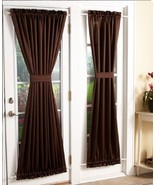 Room Darkening Sidelight Panel And / Or Door Curtain Tie Back Machine Wa... - $21.88+