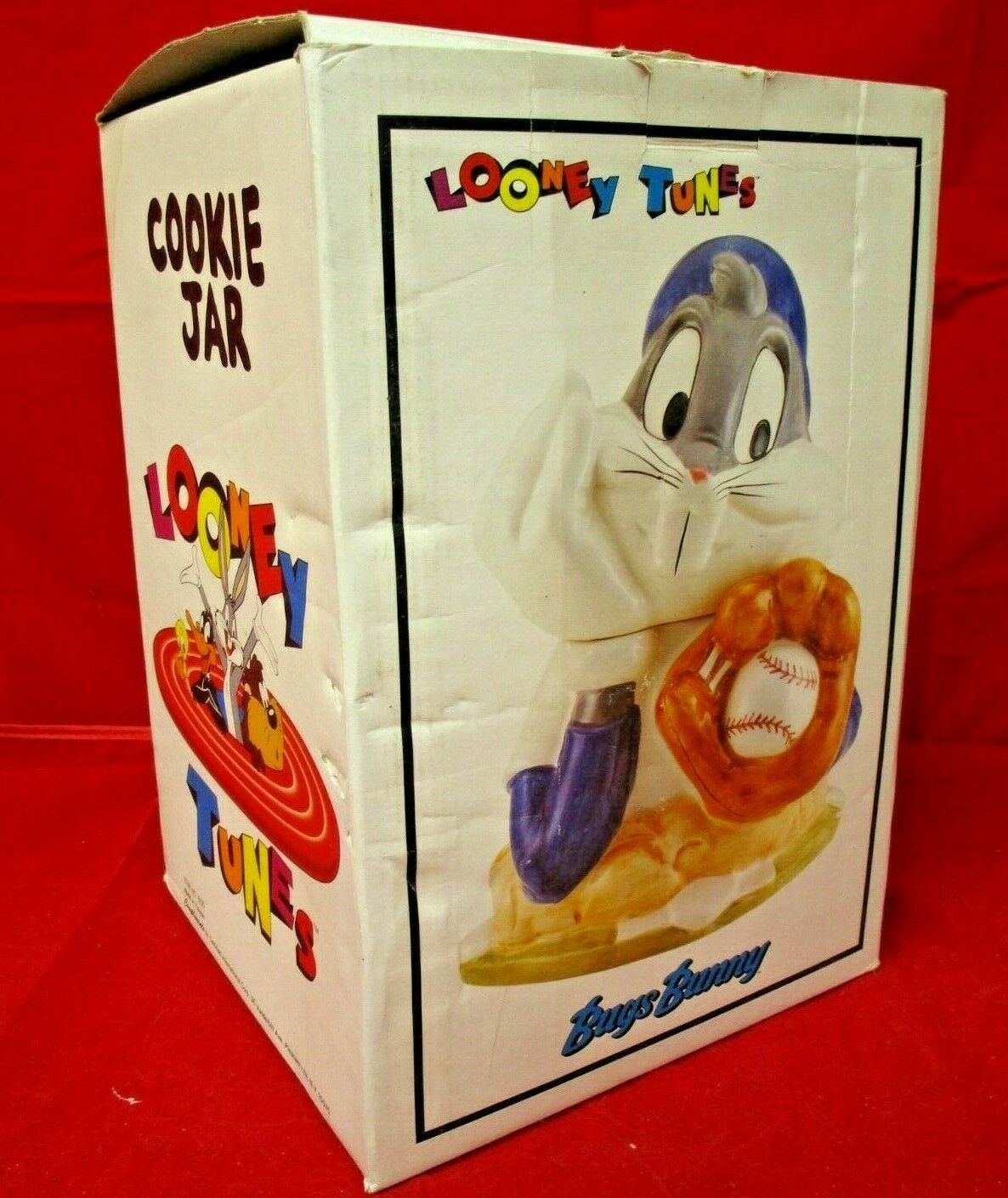 Primary image for Looney Tunes Compliment Bugs Bunny Baseball Ceramic 12 in NIB Cookie Jar No 6100