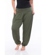 White Mark Women's Plus Harem Pants Green 3X #NK8R4-M828 - $29.99