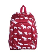 "Elephant Printed Lightweight Backpack - 16.5"" - $25.00"