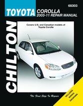 Chilton Total Car Care Toyota Corolla 2003-2011 Repair Manual, Chilton 68303 - $108.85