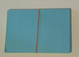 Pre-cut Paper 6in x 4in Bright Colors Blue Green Yellow Loose 67 sheets - $3.48