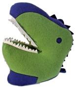 "Green Dinosaur T-Rex 12"" Tall Plush Head Mount Wall Decor - $59.99"