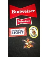 Budweiser Beer Anheuser Busch Lot of 4 Patches and Ice Scraper - $19.97