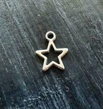 "Star Charms Pendants Rustic Silver 14mm/0.6"" Pentagram 5 Point Shape Bul... - $3.90"