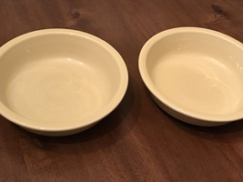 "Vintage Set of 2 Yellow Soup Cereal Bowl 7"" Fiestaware HLC USA EUC - $22.26"