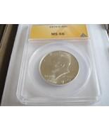1970-D , Kennedy Half Dollar , ANACS , MS 66 - $495.00