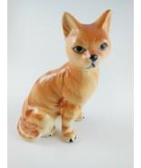 VintageCat figurine  Porcelain Orange Tabby Kitten - $9.89