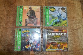 Lot of 4 Games (Sony Playstation 1) Medal of Honor A Bug's Life Crash Bandicoot - $21.62