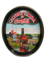 Coca-Cola Tray Calvert Extra Whiskey And Coca-Cola Woody Wagon Issued 1978 - $19.80