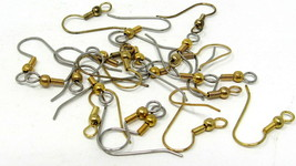 20+ French Hooks Pierced Earring 2 Toned Gold Silver Jewelry Making Crafts - $6.92