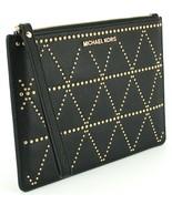Michael Kors Clutch Wristlet Bag Black Studded Pebbled Leather Adele RRP £110 - $112.74