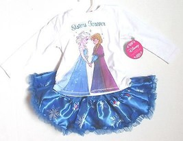 """Frozen """"Sisters Forever"""" Toddler Two Piece Tutu Set NWT 2T or 3T NWT - $18.34"""