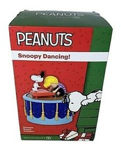 DEPARTMENT 56 Peanuts Village Accessories Snoopy Dancing Animated Music ... - $49.49