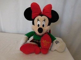Disney Store 2012 Minnie Mouse plush plaid Holiday exclusive - $6.95