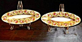 Pair of Decorative Oval Trays with 12 Beautiful Pictures of Couples Courting image 4
