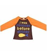 Unique Baby Unisex Thanksgiving Turkey Dinner Raglan Shirt (4t) - $11.99