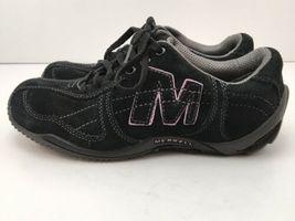 Merrell Womens US 6.5 Shoes Circuit Grid Comfort Black Suede Leather EU37 EUC image 11