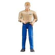 Bruder 60006 bworld Man with Light Skin/Blue Jeans Toy Figure image 2