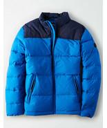 Retro NWT AMERICAN EAGLE Blue Coat Puffer Down Winter Jacket AE Sz Large... - $110.77