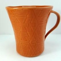 Lenox Desert Flora Terracotta Mug 12oz Cup Orange Southwestern Coffee Tea - $15.84