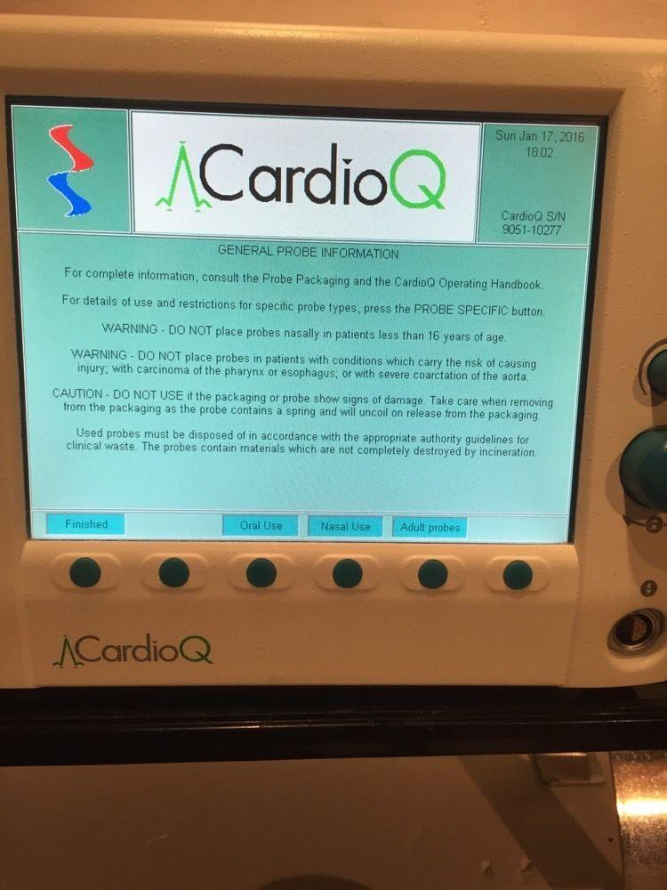 DELTEX MEDICAL LIMITED CARDIO Q MONITOR W/ Power Cord & Probe