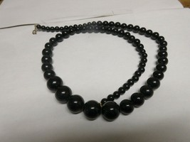 "Costume Jewelry , Necklace  , Black Beads , 30"" - $20.00"